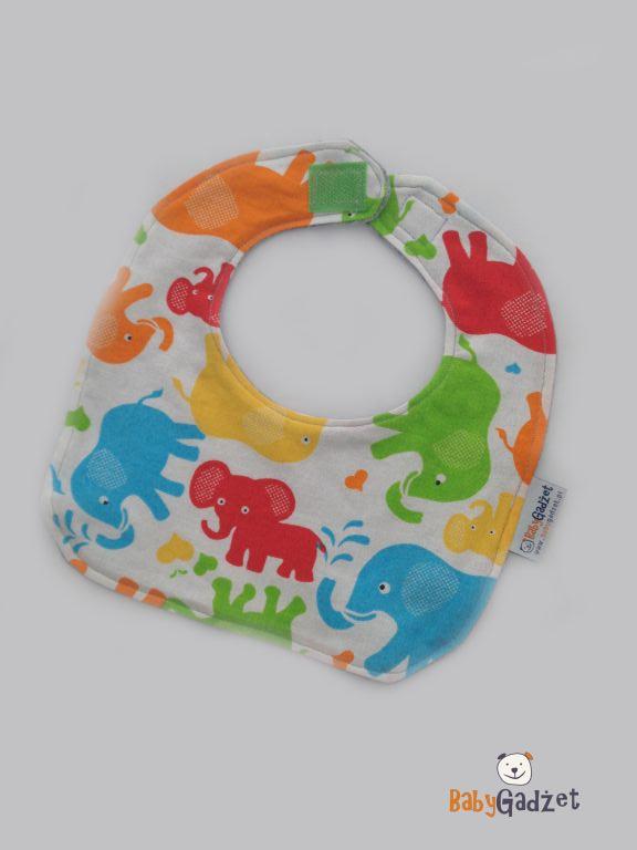 śliniak dla dziecka do domu we wzorki słoniki