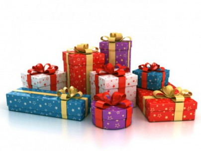 zapakuj na prezent pudełko i kokarda